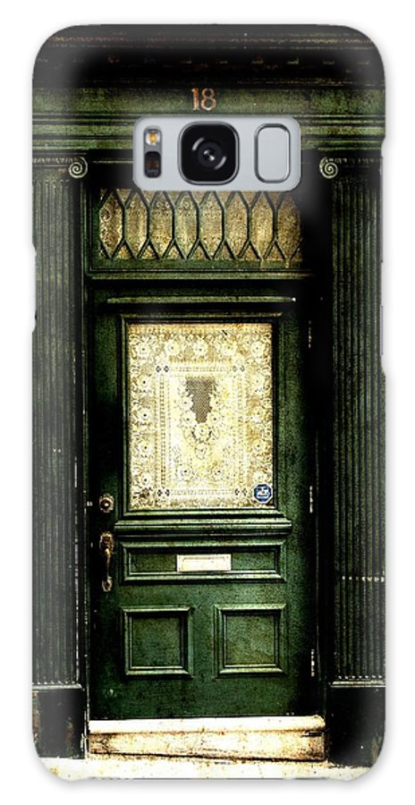Dark Green Doorway Print Galaxy S8 Case featuring the photograph Dark Green Doorway Photograph Print by Laura Carter