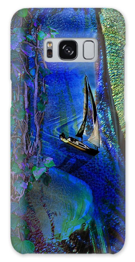 Dark River Galaxy S8 Case featuring the digital art Dark River by Lisa Yount