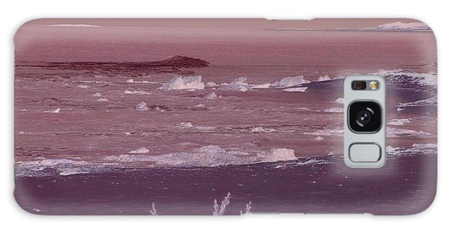 Water Galaxy S8 Case featuring the digital art Dark Waves by Chris Ye