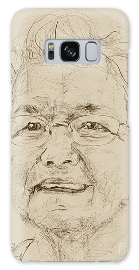 Memory Care Galaxy S8 Case featuring the drawing Darleen by PainterArtist FIN