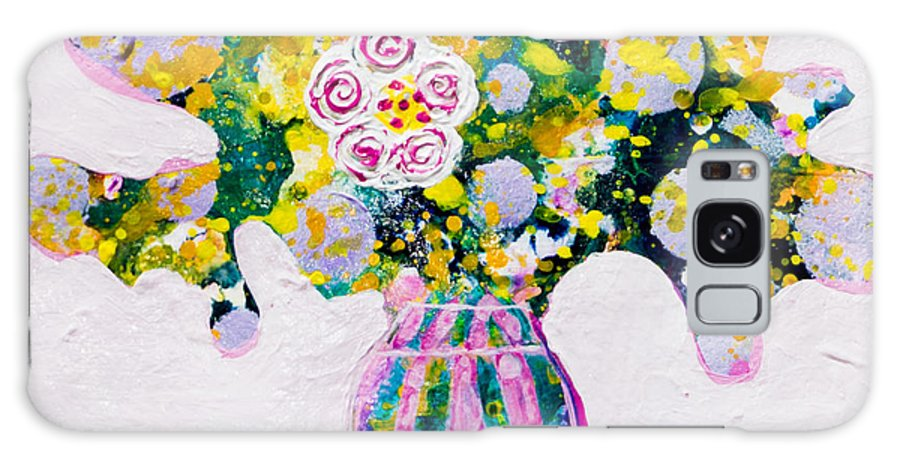 Flowers Galaxy S8 Case featuring the painting Daughter by Marta Tollerup