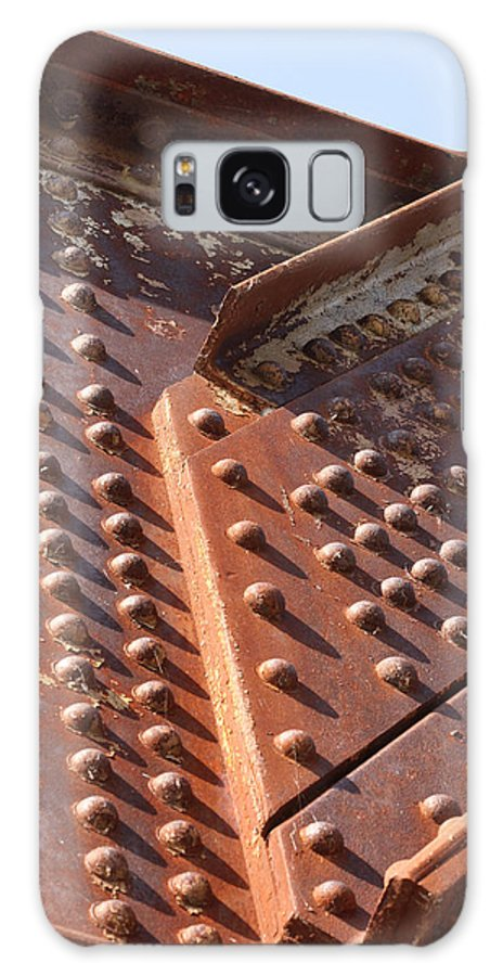 Abstract Photographs Galaxy S8 Case featuring the photograph Davenport Railroad Bridge Beam V by Heidi Brandt