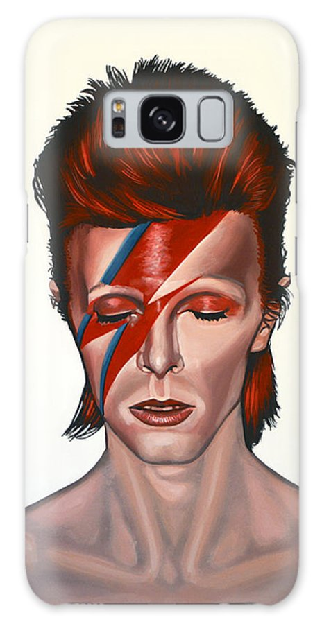 David Bowie Galaxy Case featuring the painting David Bowie Aladdin Sane by Paul Meijering