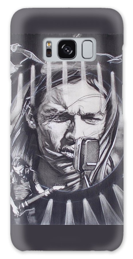 Charcoal On Paper Galaxy S8 Case featuring the drawing David Gilmour Of Pink Floyd - Echoes by Sean Connolly