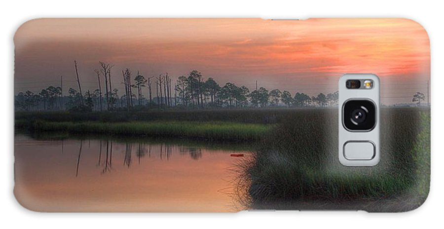 Palm Galaxy S8 Case featuring the digital art Dawn On The Bayou by Michael Thomas