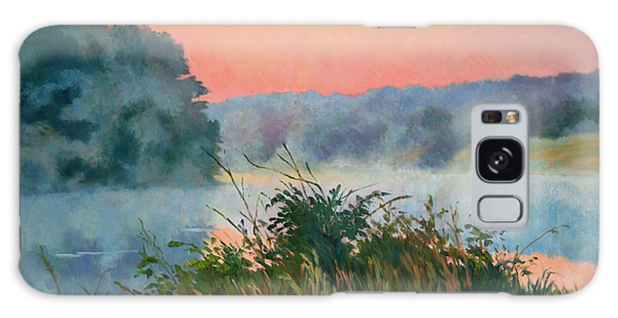 Impressionism Galaxy S8 Case featuring the painting Dawn Reflection by Keith Burgess