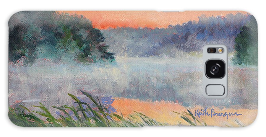 Impressionism Galaxy S8 Case featuring the painting Dawn Reflection Study by Keith Burgess