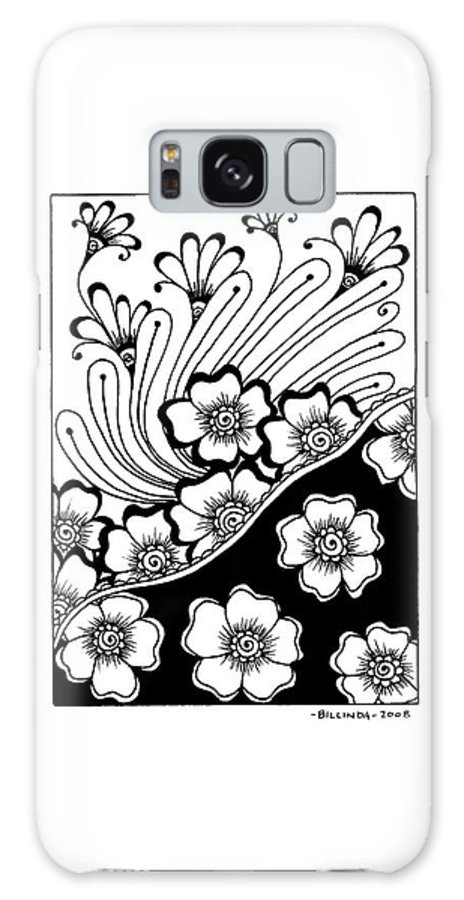 Black And White Galaxy S8 Case featuring the drawing Day And Night by Billinda Brandli DeVillez
