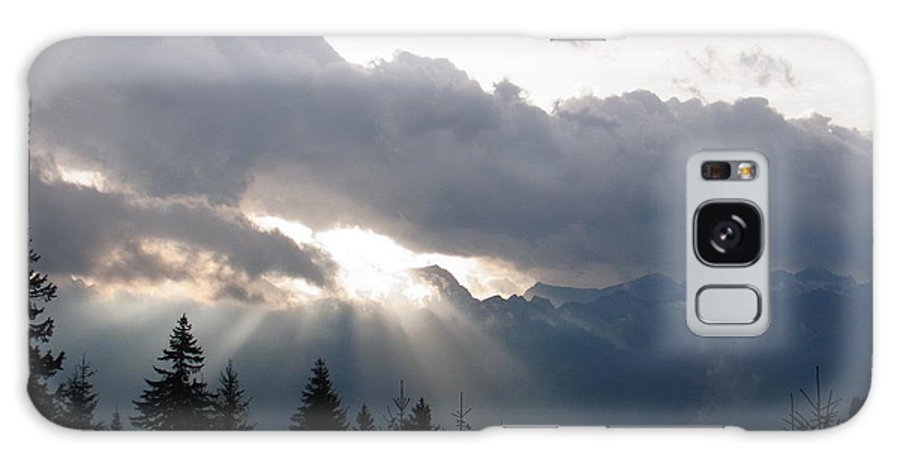 Light Galaxy S8 Case featuring the photograph Daybreak Over Lepontine Alps by Agnieszka Ledwon