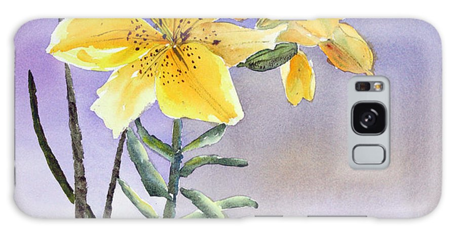 Lily Galaxy Case featuring the painting Daylilies by Patricia Novack