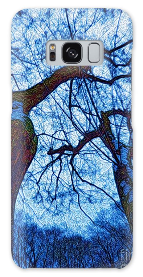 Trees Galaxy S8 Case featuring the mixed media Dc Trees Map by Dale Crum