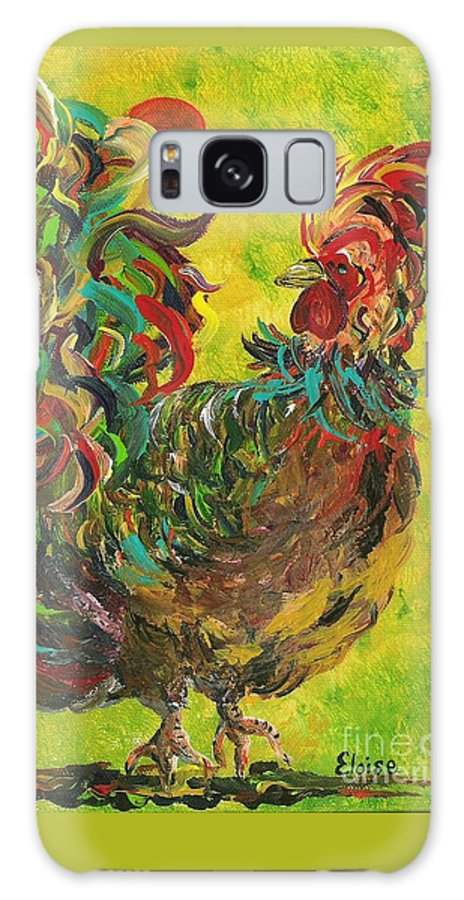 Rooster Galaxy S8 Case featuring the painting De Colores Rooster #2 by Eloise Schneider Mote