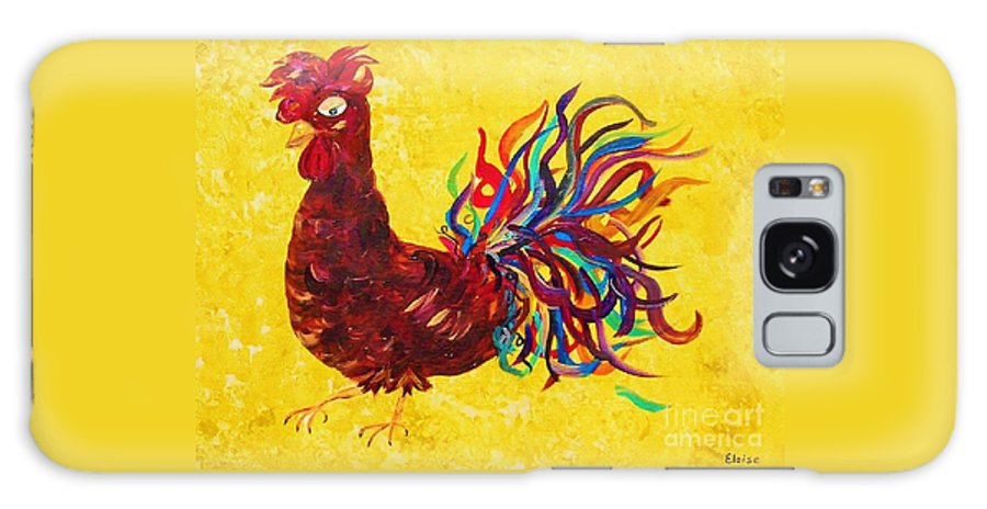 Rooster Galaxy S8 Case featuring the painting De Colores Rooster by Eloise Schneider Mote
