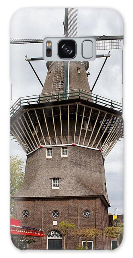 Amsterdam Galaxy S8 Case featuring the photograph De Gooyer Windmill In Amsterdam by Artur Bogacki