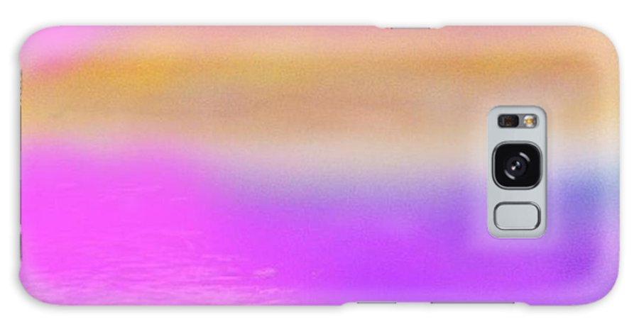 Morning.sky.sea.fog.coilors.mounts.water.reflection.sun Galaxy S8 Case featuring the digital art Dead Sea .morning by Dr Loifer Vladimir