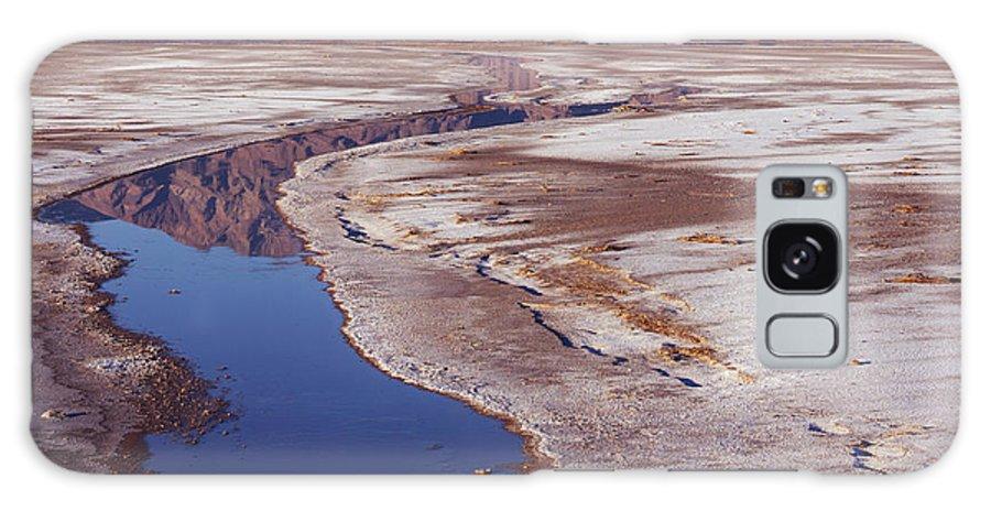 California Galaxy S8 Case featuring the photograph Death Valley Salt Stream 1-h by Tom Daniel