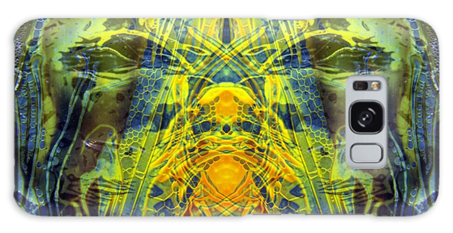 Surrealism Galaxy Case featuring the digital art Decalcomaniac Intersection 1 by Otto Rapp