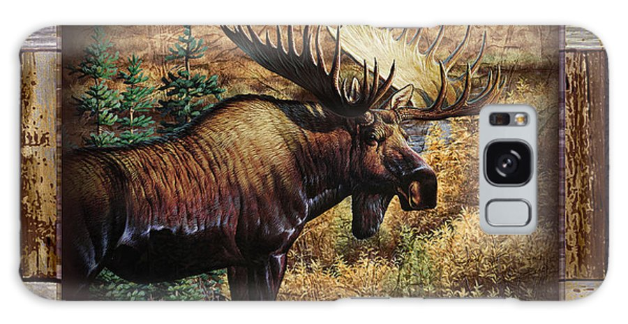 Cynthie Fisher Galaxy S8 Case featuring the painting Deco Moose by JQ Licensing