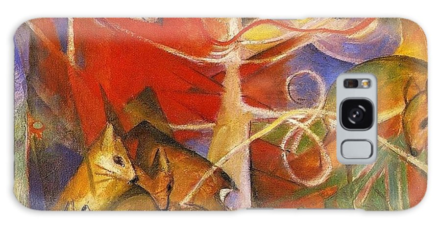 Franz Galaxy S8 Case featuring the painting Deer In The Forest 1913 by Franz Marc