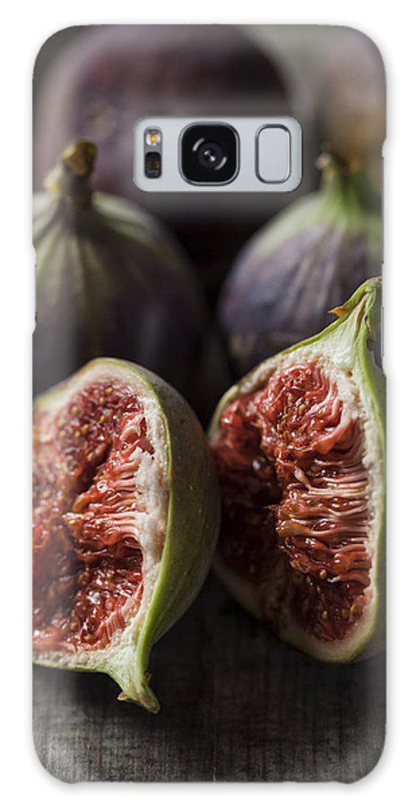 Fig Galaxy S8 Case featuring the photograph Delicious Figs On Wooden Background by Daniel Barbalata
