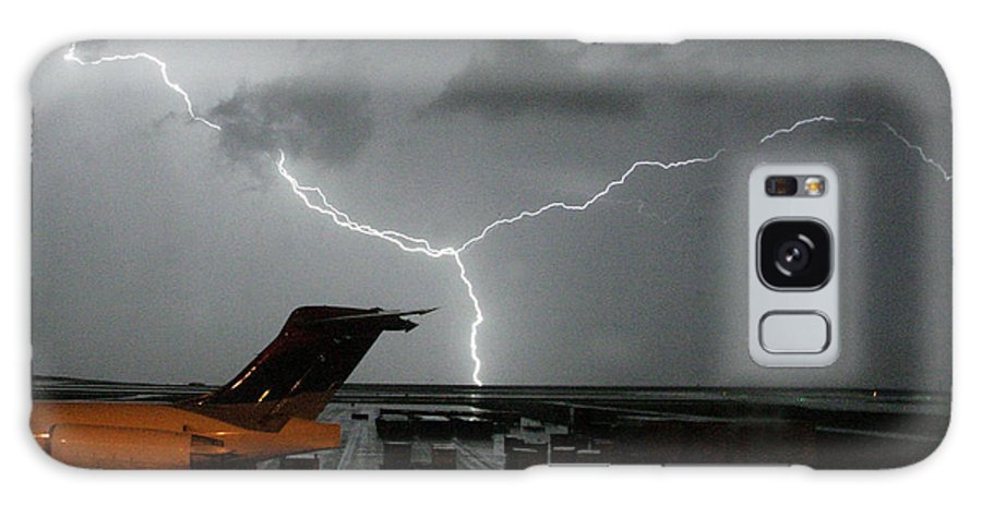 Lightning Galaxy S8 Case featuring the photograph Denver Airport by J L Woody Wooden