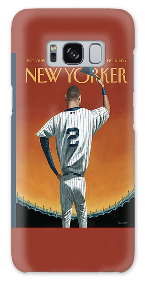 Retirement Galaxy Case featuring the painting Derek Jeter Bows Out by Mark Ulriksen