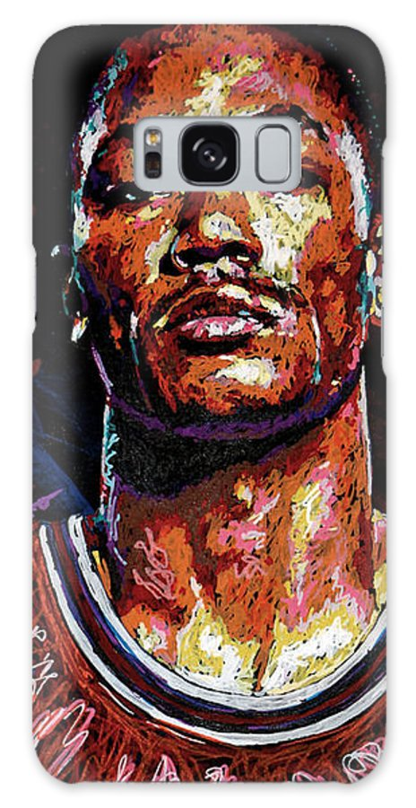 Derrick Rose Galaxy S8 Case featuring the painting Derrick Rose-2 by Maria Arango