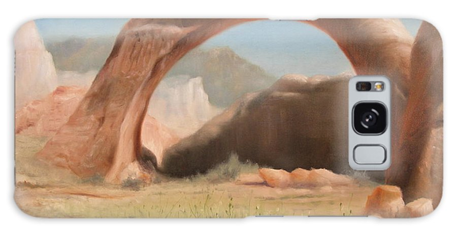 Realism Galaxy S8 Case featuring the painting Desert Arch by Donelli DiMaria