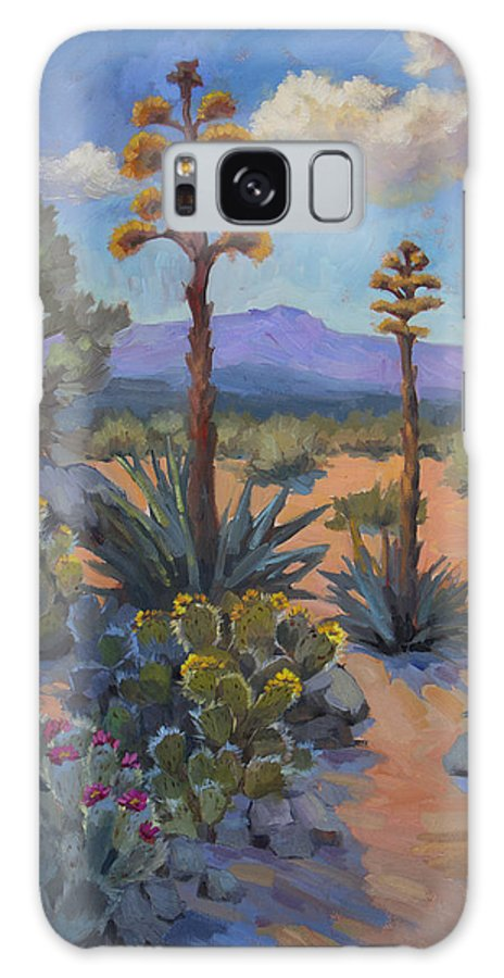 Southwest Galaxy S8 Case featuring the painting Desert Century Plants by Diane McClary
