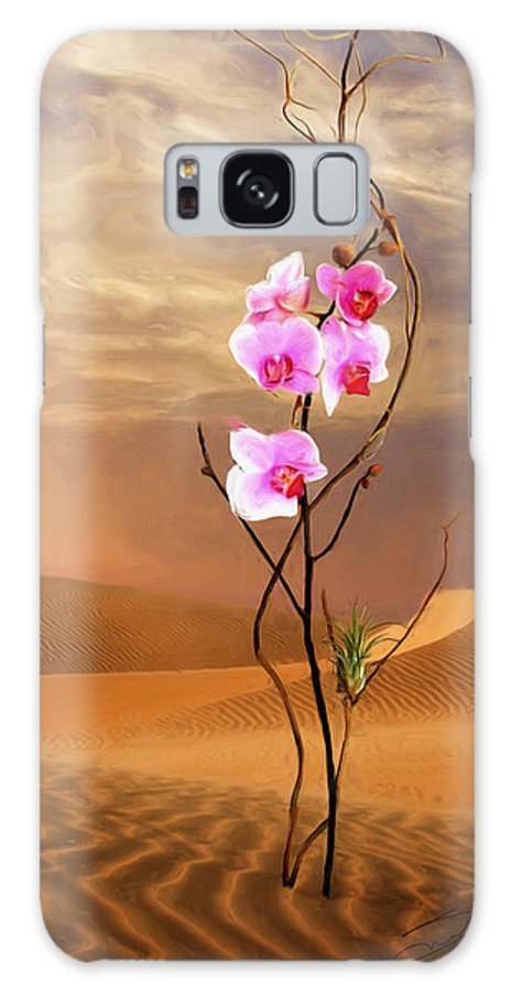 Orchid Galaxy S8 Case featuring the painting Desert Flower II by Shawn Abel
