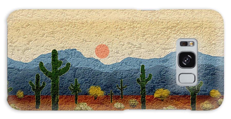 Arizona Galaxy S8 Case featuring the digital art Desert Impressions by Gordon Beck