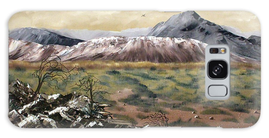 Mountains Galaxy S8 Case featuring the painting Desert Mountains by Vickie Black