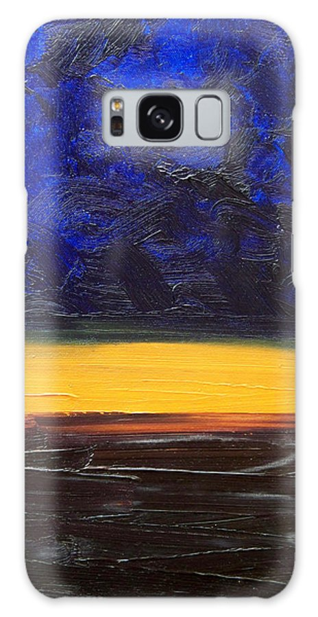 Landscape Galaxy S8 Case featuring the painting Desert Plains by Sergey Bezhinets