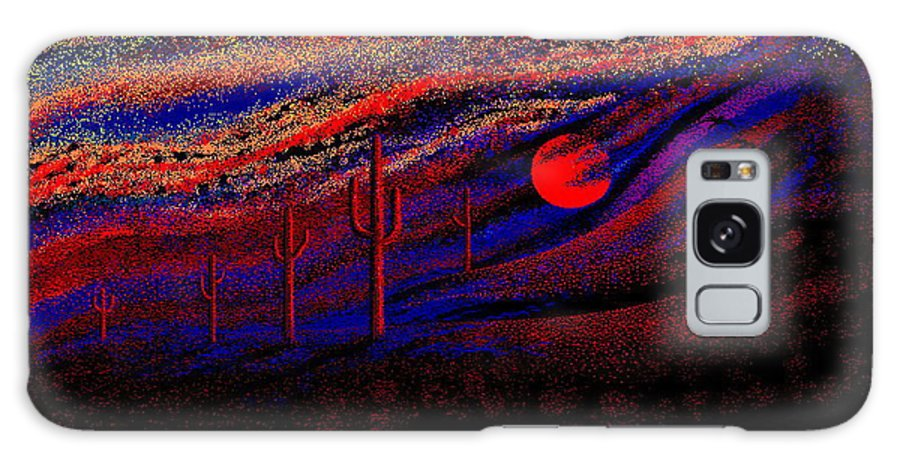 Desert Sunset Quickly Sketched In Four And Half Hours.... Galaxy Case featuring the digital art Desert Sunset by Larry Lehman
