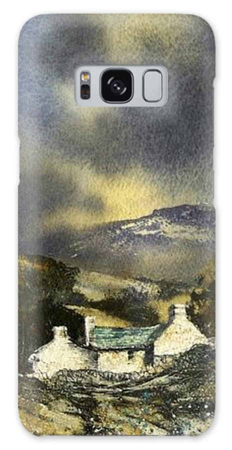 Landscape Galaxy S8 Case featuring the painting Deserted Farm West Cork by Roland Byrne