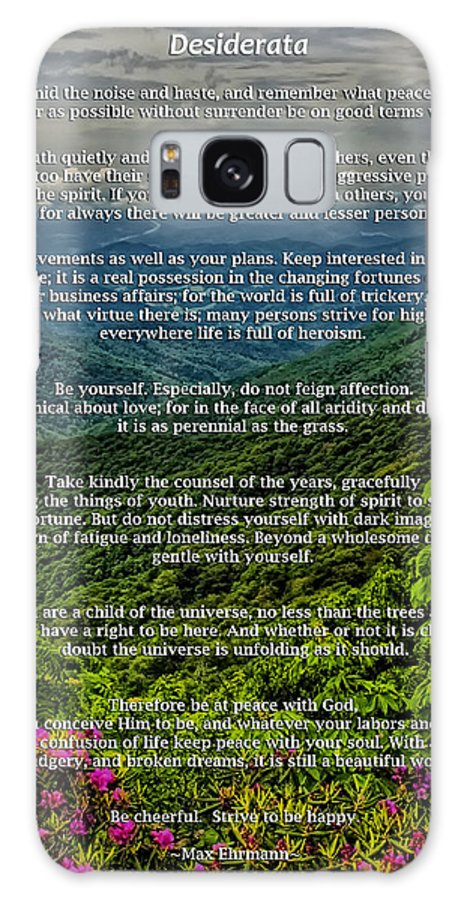 Desiderata Galaxy S8 Case featuring the photograph Desiderata by Lynne Jenkins