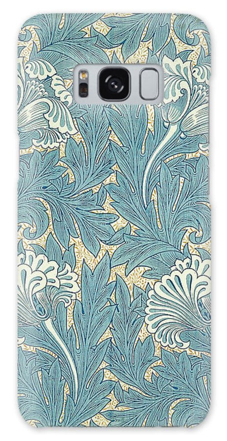 William Galaxy S8 Case featuring the digital art Design In Turquoise by William Morris