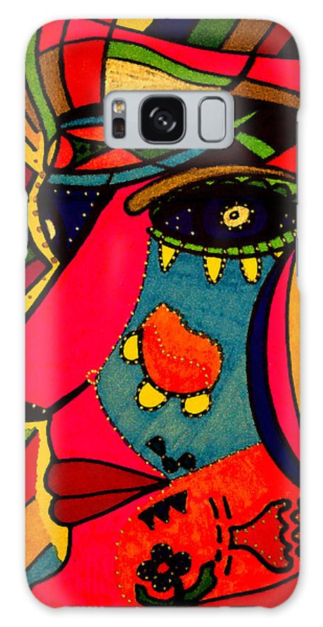 Look Galaxy S8 Case featuring the painting Determination - Face - Expression by Marie Jamieson