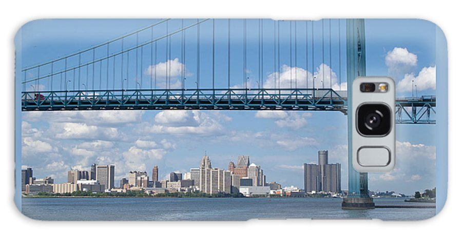 Bridge Galaxy S8 Case featuring the photograph Detroit River Crossing by Ann Horn