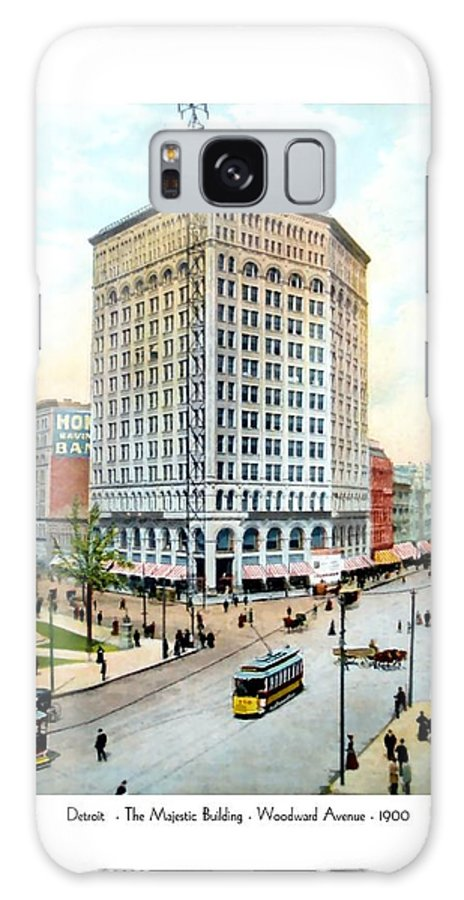 Detroit Galaxy S8 Case featuring the digital art Detroit - The Majestic Building - Woodward Avenue - 1900 by John Madison