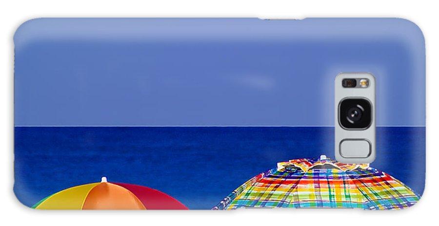 Miami Beach Galaxy S8 Case featuring the photograph Deuce Umbrellas by Gary Dean Mercer Clark
