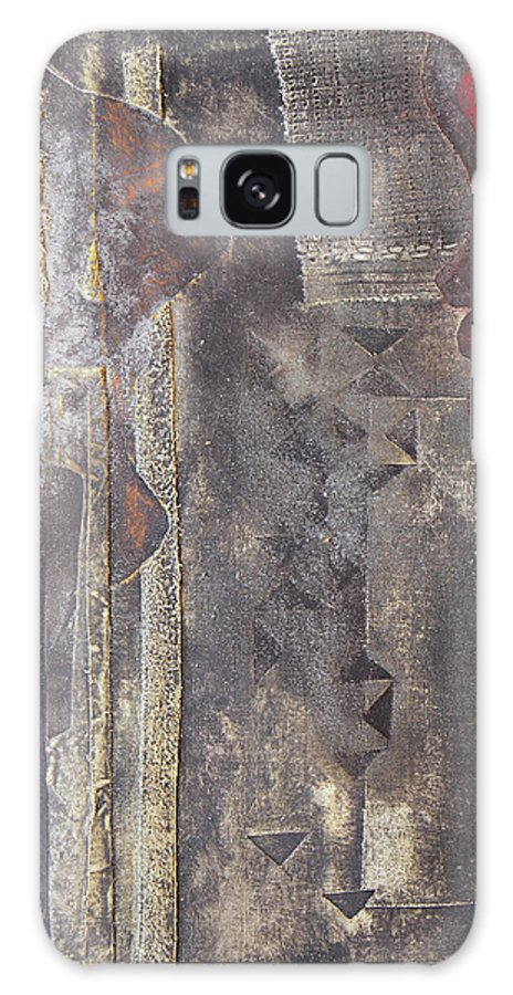 Brown Love Galaxy S8 Case featuring the painting Dialogos 9 Detalle by Jorge Berlato