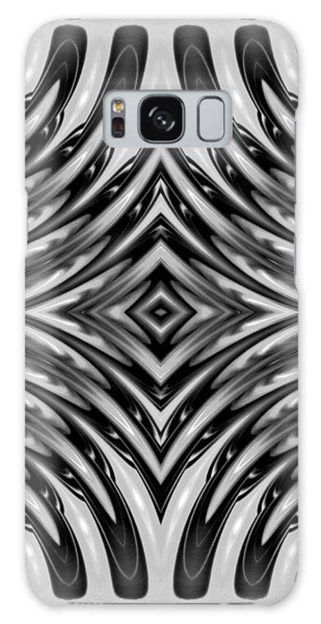 Abstract Geometry Digital Photo Edit Shade Galaxy S8 Case featuring the digital art Diamond Light by Susan Joseph