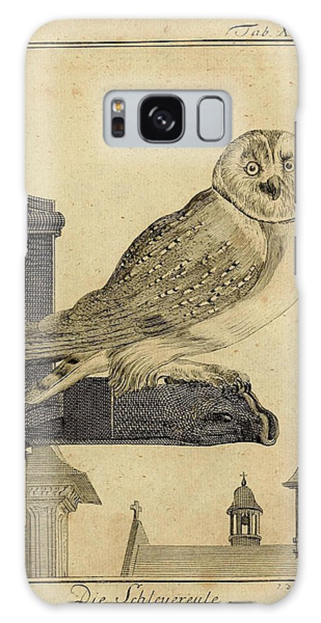Die Galaxy S8 Case featuring the drawing Die Schleyer Eule by Philip Ralley