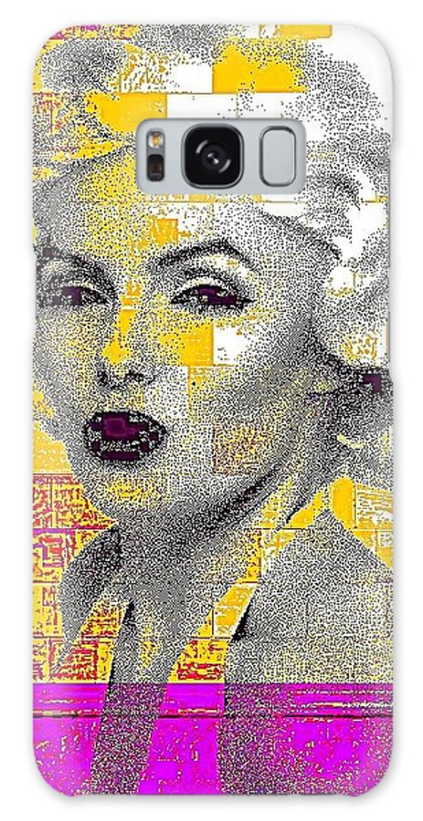 Marilyn Galaxy S8 Case featuring the photograph Digital Art Marilyn by HollyWood Creation By linda zanini
