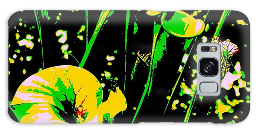 Digital Galaxy S8 Case featuring the photograph Digital Green Yellow Abstract by Eric Schiabor