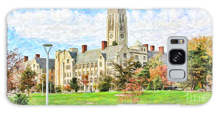 University Hall Galaxy S8 Case featuring the photograph Digital Painting Of University Hall by Jack Schultz