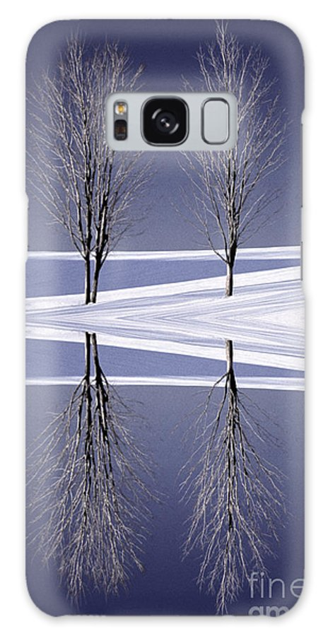 New England Galaxy S8 Case featuring the photograph Digitally Manipulated Image Of Two Trees In The Middle Of Winter by Don Landwehrle