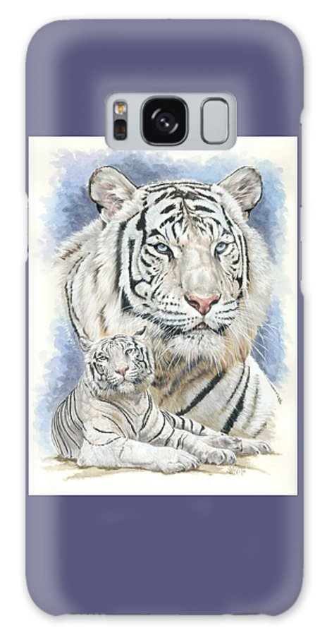 Big Cat Galaxy S8 Case featuring the mixed media Dignity by Barbara Keith