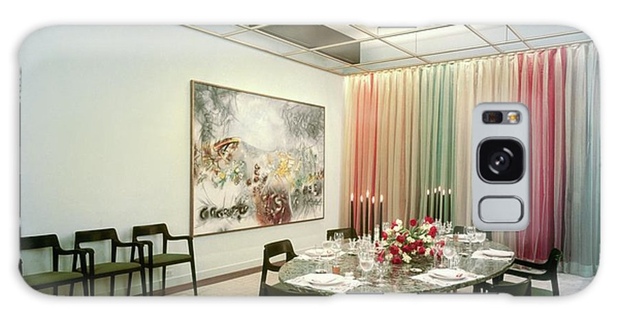 Dining Room Galaxy S8 Case featuring the photograph Dining Room In Mr. And Mrs. Williams A.m by Pedro E. Guerrero